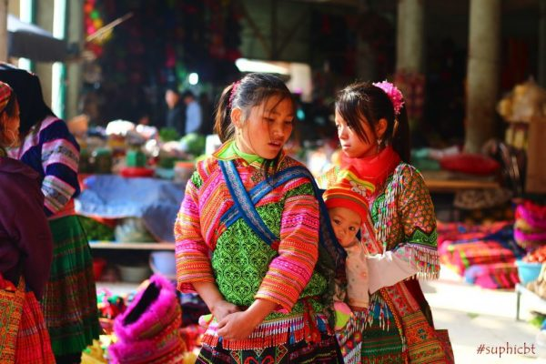 Hmong flower ethnic in the market